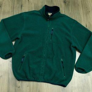 Vintage LL Bean Deep Pile Fleece Full Zip Jacket